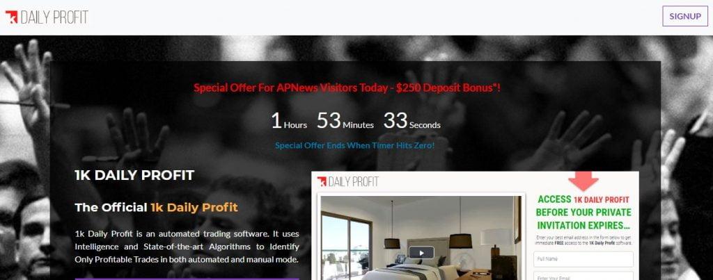 1K Daily Profit bonus