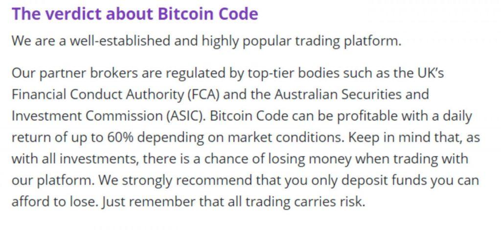 bitcoin code falseverification