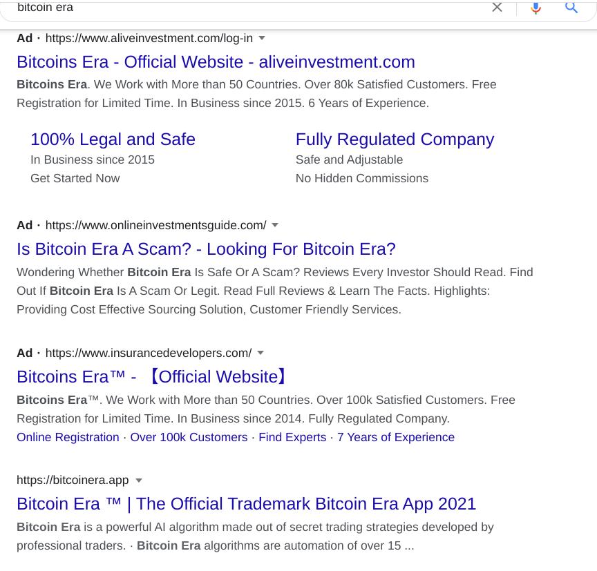 Google bitcoin era