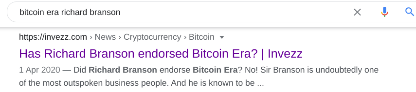 bitcoin era Richard Branson