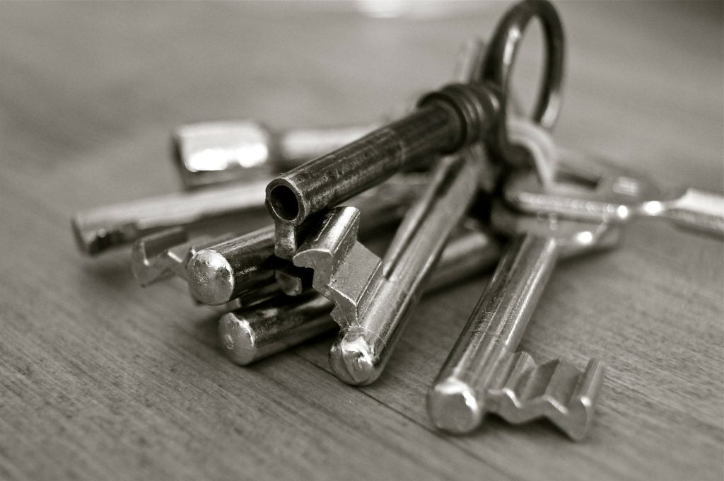 The private and public key