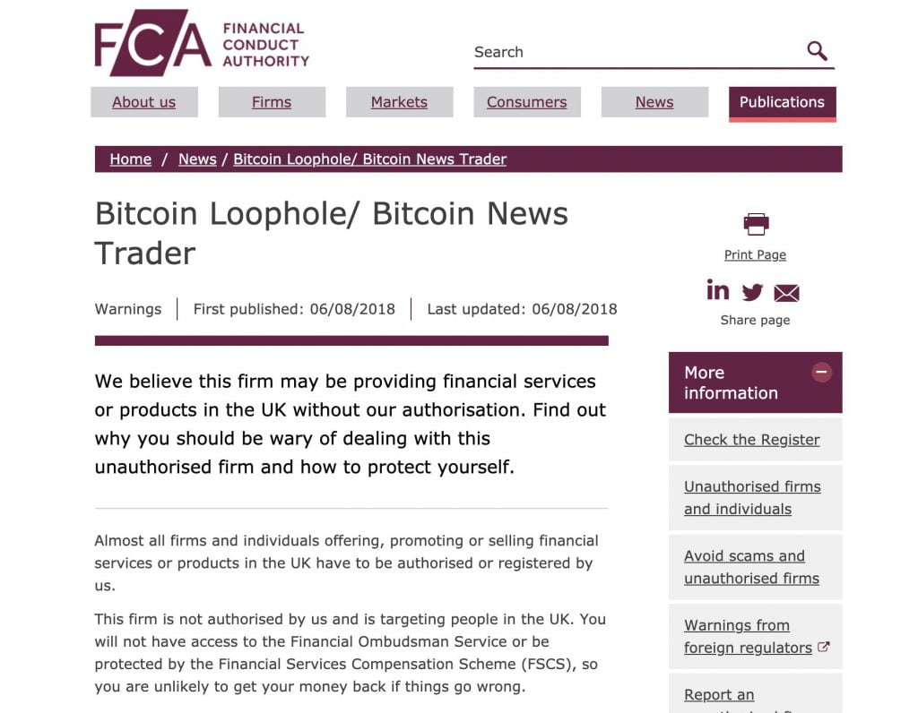 Bitcoin loophole financial info