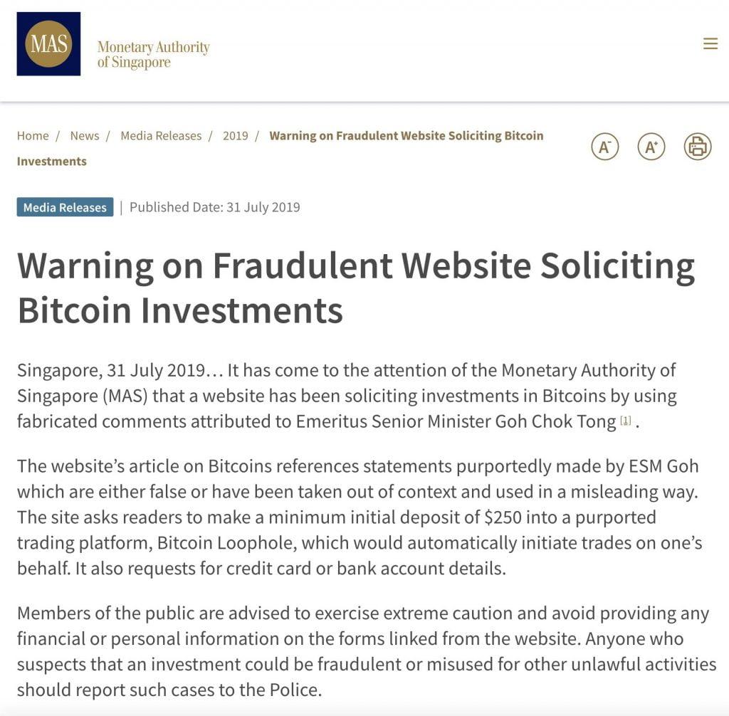Bitcoin Loophole scam