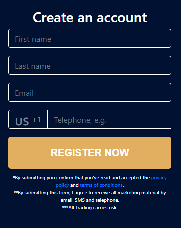 Bitcoin profit register form