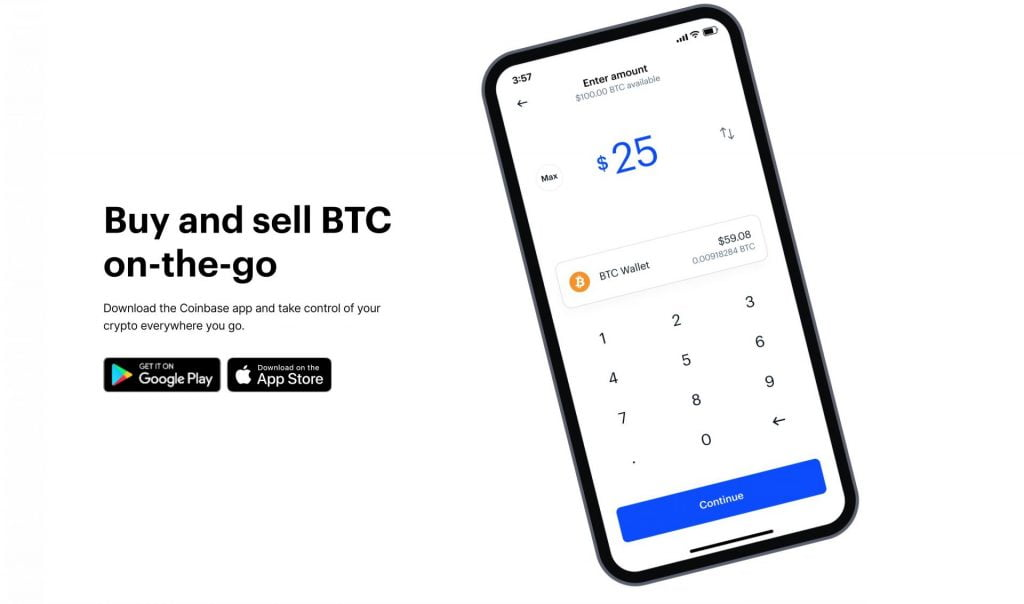 buy bitcoin on coinbase