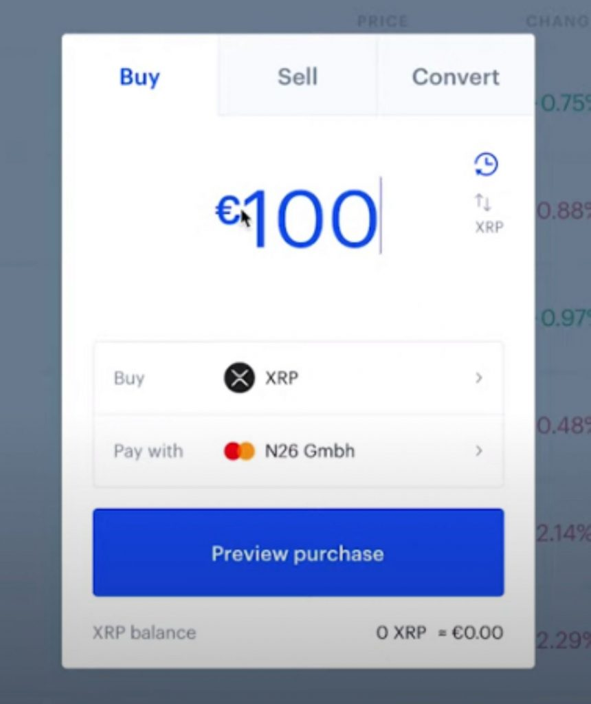 Use Euro to buy Ripple