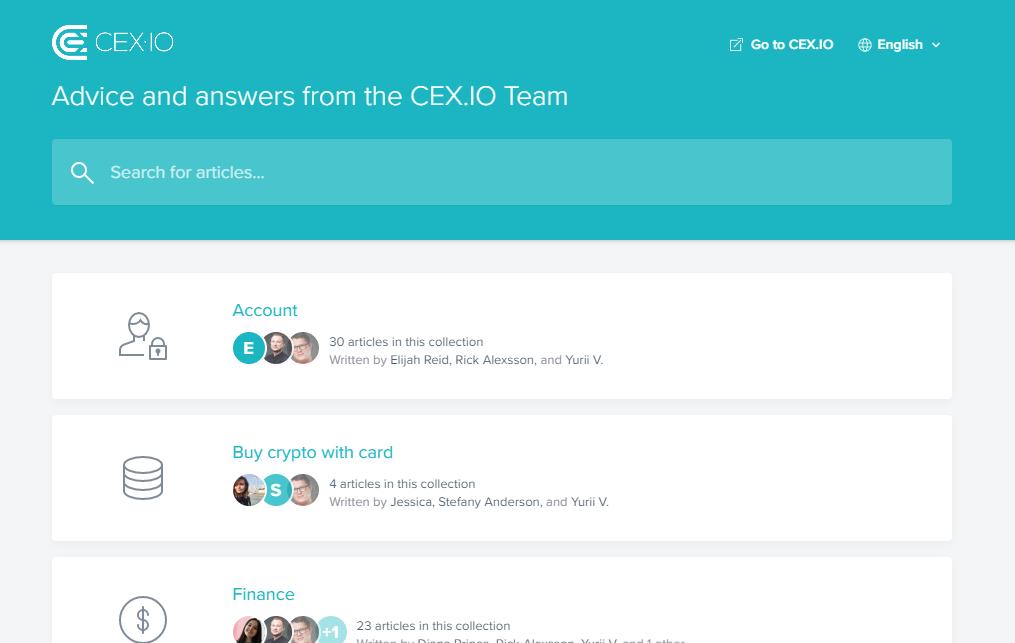 cex.io customer service