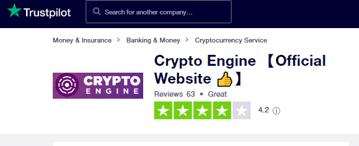 crypto engine trust pilot score